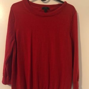 J. Crew True Red Tippi Sweater Large